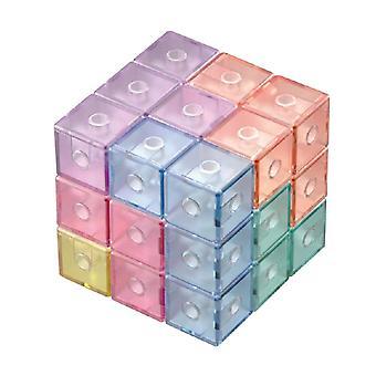 Magneettinen 3x3x3 Tarraton Kuutio Nopeus Palapelit Koulutus Lelu (macaron)