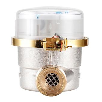 """Water meter mechanical rotary wing 0-40℃ cold e-type 1/2"""" - 3/4"""" qn 2.5m3/h precision 0.0001m3 with all copper connector"""