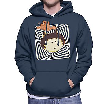 The Magic Roundabout Margote Monochrome Ray Lines Men's Hooded Sweatshirt
