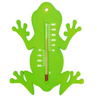 Nature Garden Wall Thermometer Frog shape Green