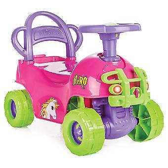 Pilsan barnens bil hjälte 07812 Rosa 2 i 1, rinnande stöd, Slider, Unicorn design