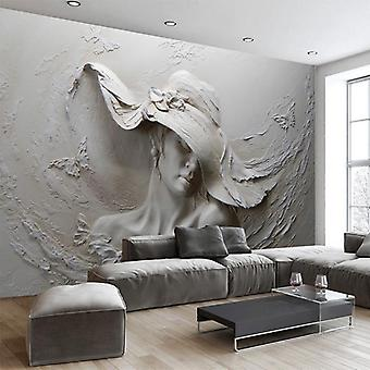 3d Embossed Abstract Beauty Figure Wall Paper - Mural Living Room Bedroom Home