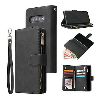 Stuff Certified® Samsung Galaxy S10e - Leather Wallet Flip Case Cover Case Wallet Black