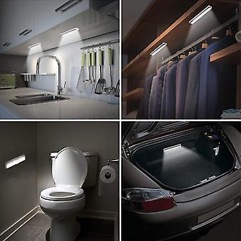 6/10 Leds Pir Motion Sensor Light Cupboard Wardrobe Bed Lamp Under Cabinet