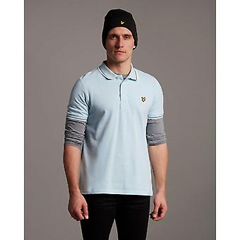 Lyle & Scott Tipped Polo Shirt - Deck Blue/White