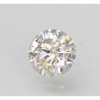 Certified 0.52 Carat H SI2 Round Brilliant Enhanced Natural Loose Diamond 5.09mm