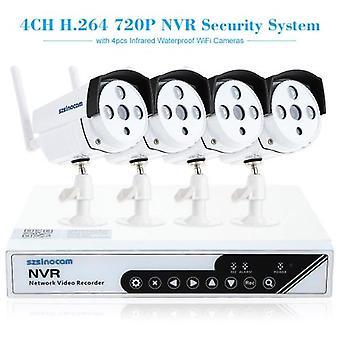 szsinocam 4CH HD 720P H.264 NVR Kit 4szt Kamera IP z Win8 UI i panel dotykowy System bezpieczeństwa