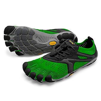 Vibram V-Run Mens Ultimate Lightweight Five Fingers Barefoot Trainers Shoes - Green/Black