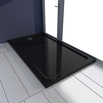 vidaXL Shower Cup ABS Rectangular Black 70×120 cm
