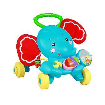 Lorelli Running Trolley Elephant Running Aid Play Center Light Aangrijpende Ringen Muziek Knoppen