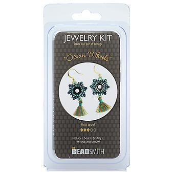 The Beadsmith Jewelry Kit, Ocean Wheels Earrings, 1 Kit