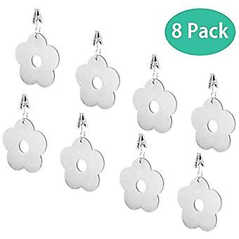 8 Pieces Flower Tablecloth Weights, Stainless Steel Tablecloth Clips, Tablecloth Weights, Tablecloth Clips