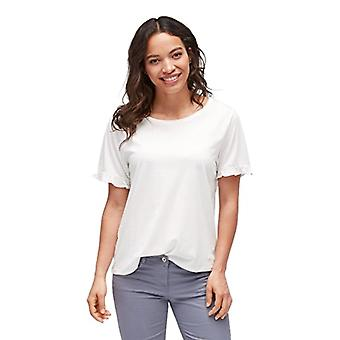 Tom Tailor Femines Shirt mit Ruschendetails Am armel T, Ivory (Whisper White 8210), Large Woman