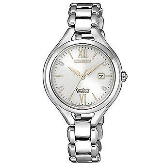 CITIZEN Analog Eco-Drive Women's Watch with Super Titanium Strap EW2560-86A