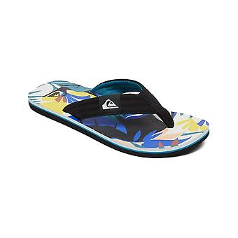 Quiksilver Molokai Layback Flip Flops i svart / vit / Blå
