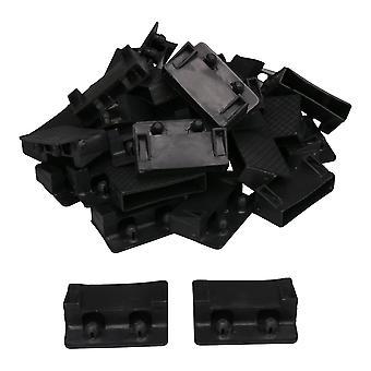 30 x porte-bouts de lit en plastique noir Porte-bouts de lit Pièces de rechange 73x14mm