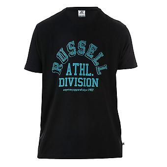 Men's Russell Athletic Crew T-Shirt in Black