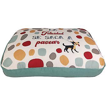 Yagu Rectangular Cushion Happy Happiness (Dogs , Bedding , Beds)