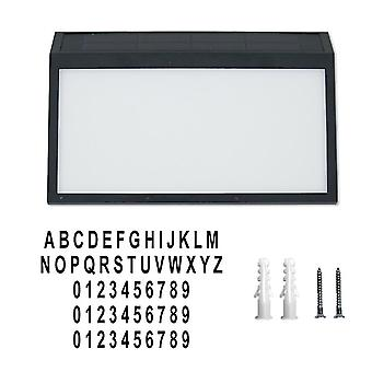 2# Luce solare digitale del numero di casa, indicatore di indirizzo led impermeabile montato a parete az22020