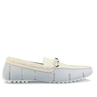 Men's Swims Braided Lace Loafer in Cream