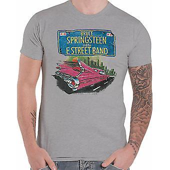 Bruce Springsteen - Pink Cadillac Men's Medium T-Shirt - Heather Grey