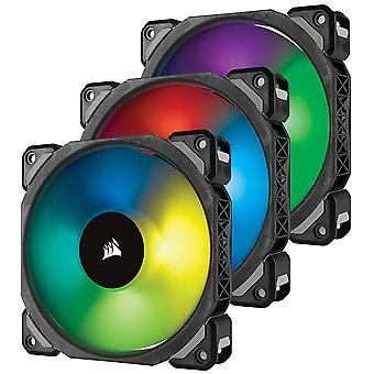 Corsair ML120 12cm Pro PWM RGB ventole Case x3, levitazione magnetica cuscinetto, confezione da 3