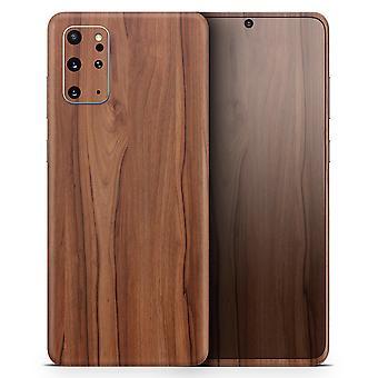 Prancha de madeira de grãos lisos - Kit de pele para a série S do Samsung Galaxy