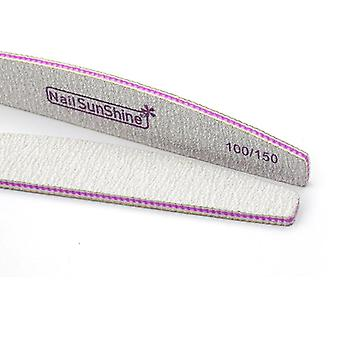 100szt Nail Files Strong Sandpaper Washable Nail Sunshine Buffer Emery Board Manicure Boat Lime