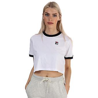 Naisten Fila Khaleesi Crop T-paita valkoinen