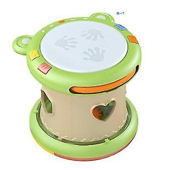 Baby-Musikspielzeug, elektronische Trommelinstrumente, frühpädagogisches Geschenk für Kleinkinder (grün)