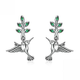 Ear Studs Hummingbird's Greeting S925 Antiallergy Earrings For Daily Use