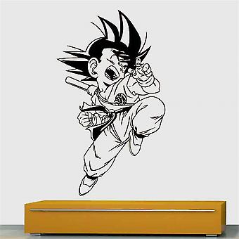 Childhood Dragon Ball Cartoon Vinyl Carved Wallpaper Self Adhesive Pvc Wall Decal Removable Cool Wall Stickers For Boys Children 34x58cm Black