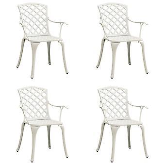 vidaXL sedie da giardino 4 pezzi. alluminio cast bianco