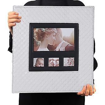 Fotoalbum 10x15 600 Fotos Schwarz Innenseite Knopf Getreide Leder Große Kapazität Taschen Bilder