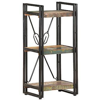 vidaXL bibliothèque 3 compartiments 40x30x80 cm massif de bois usagé