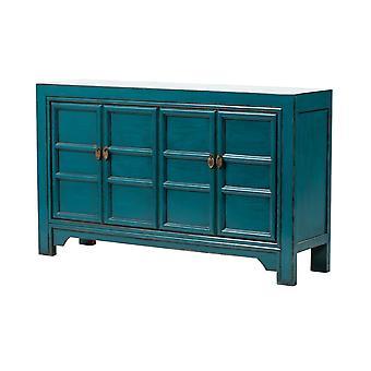 Grzywny Asianliving chiński kredens błyszczący niebieski W150xD40xH90cm