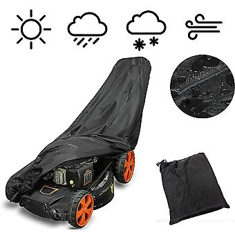 74Inch waterproof mower cover garden rain dust protector tear resistant for electric reel push mowers with storage bag