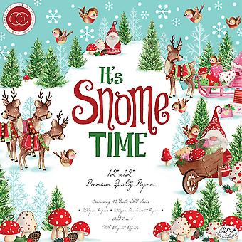"""Craft Consortium Double-Sided Paper Pad 12""""X12"""" 40/Pkg - It's Snome Time"""