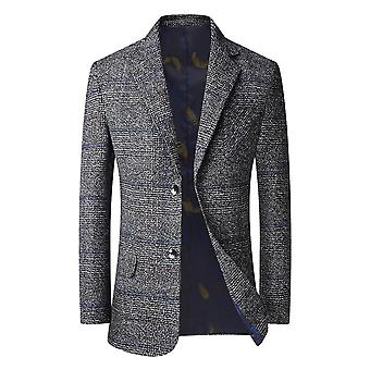 Mile Mens Casual Blazer Slim Fit Long Sleeve Suit Jacket Washed Cotton 2-button Casual Suits Blazer Jackets