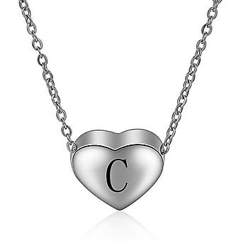 925 Sterling Silver Initial  Letter C Necklace - 18 inch