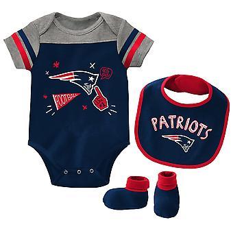 NFL Baby Bib & Bootie Set - New England Patriots