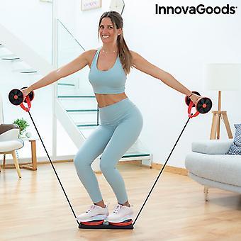Rodillo abdominal con discos giratorios, bandas elásticas y guía de ejercicios Twabanarm InnovaGoods
