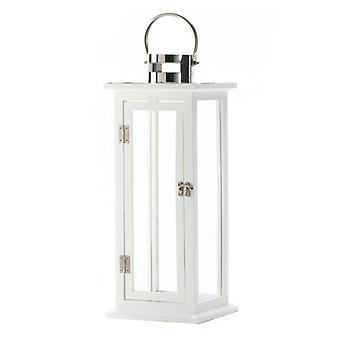 Galleri av lys hvit tre stearinlys lykt - 20.5 inches, Pakke med 1