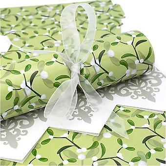 10 große Simply Mistletoe Cracker - Machen und füllen Sie Ihr eigenes Kit ohne Bänder