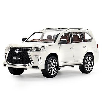 Toy cars 1: 24 lexus lx570 pull back alloy toy car white