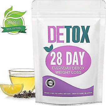 28 días de pérdida de peso té de desintoxicación limpieza y adelgazamiento teatox