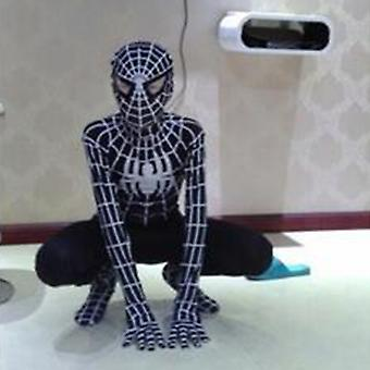Black Spiderman Mens Boys Cosplay Costume Jumpsuit Outfit Fancy Dress