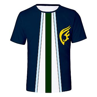 New Fairy Tail Series 3d Printing Short Sleeve Cosplay Anime