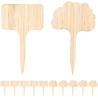 20 Pieces Bamboo Plant Labels T-type Cloud Marker Plant Labels For Garden Potted Plants Flowers
