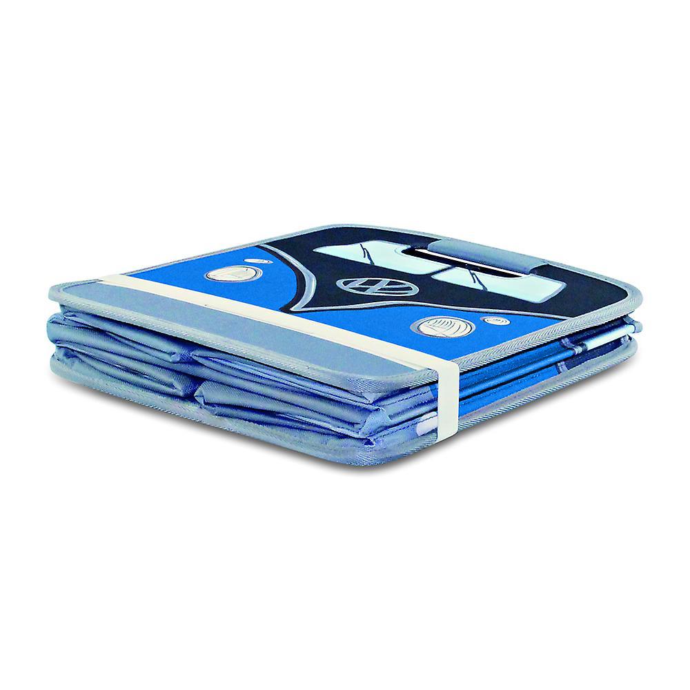 Official VW Camper Van Foldable Storage Box / Car Boot Organiser - Blue